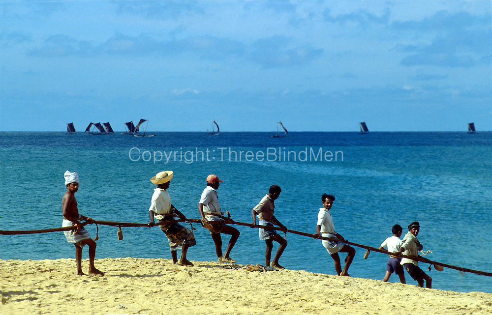 Negombo net fishermen.
