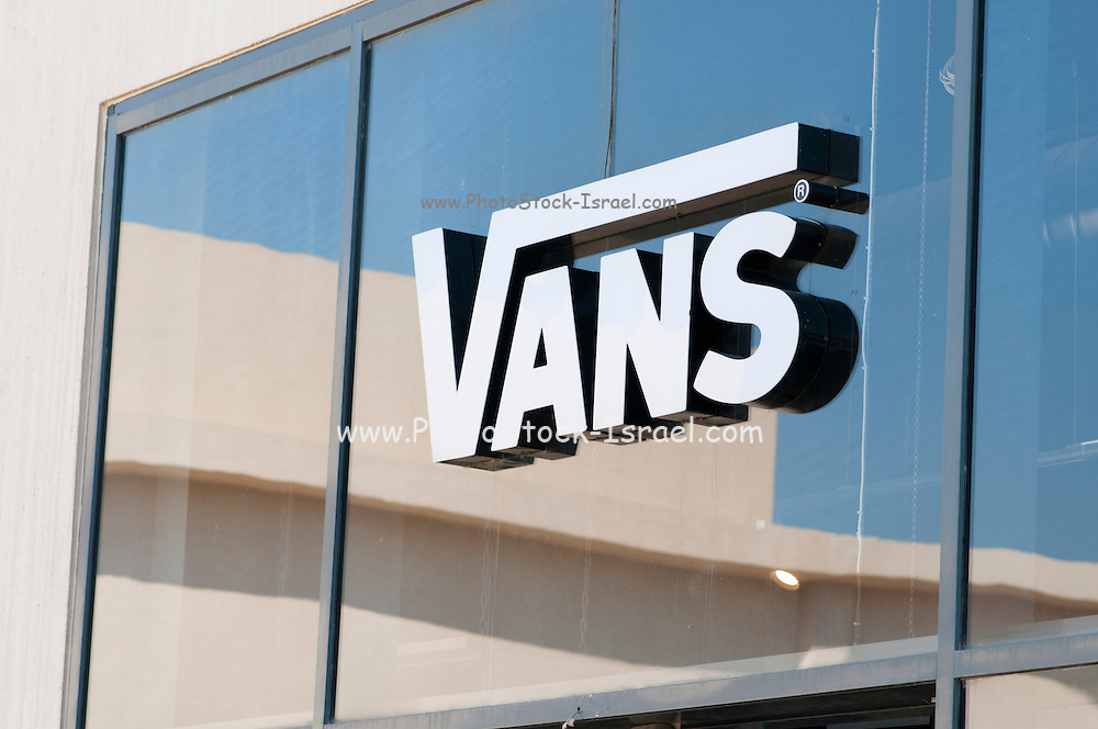 Vans logo on shop front