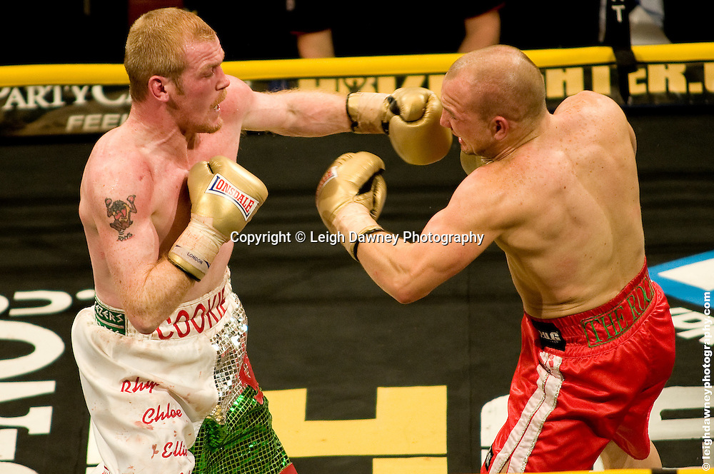 Gavin Rees (red shorts) defeats Jason Cook at London Olympia -  Prizefighter Light Welterweights 4th December 2009 Credit: © Leigh Dawney Photography