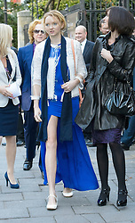 Lily Cole attends the wedding of Wikipedia founder Jimmy Wales to Tony Blair's former diary secretary, Kate Garvey at Wesley's Chapel, City of  London, October 6, 2012. Photo by Fiona Hanson / i-Images.