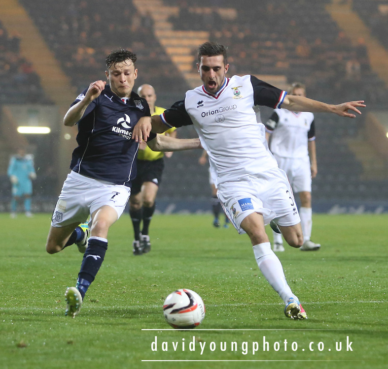 Nicky Riley and Graeme Shinnie - Dundee v Inverness CT, Scottish League Cup at Dens Park<br />  <br />  - &copy; David Young - www.davidyoungphoto.co.uk - email: davidyoungphoto@gmail.com