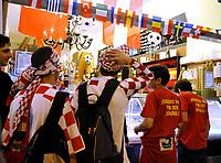GEPA-2006087384 - WIEN,AUSTRIA,20.JUN.08 - FUSSBALL - UEFA Europameisterschaft, EURO 2008, Host City Fan Zone, Fanmeile, Fan Meile, Public Viewing. Bild zeigt Kroatien-Fans.<br />Foto: GEPA pictures/ Reinhard Mueller