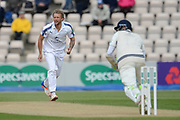 Gareth Berg of Hampshire bowling during the Specsavers County Champ Div 1 match between Hampshire County Cricket Club and Middlesex County Cricket Club at the Ageas Bowl, Southampton, United Kingdom on 16 April 2017. Photo by David Vokes.