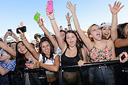 Photos of crowd atmosphere during the band Twenty One Pilots performing live at the iHeartRadio Music Festival Village 2013 in Las Vegas, NV. September 21, 2013. Copyright © 2013. Matthew Eisman. All Rights Reserved