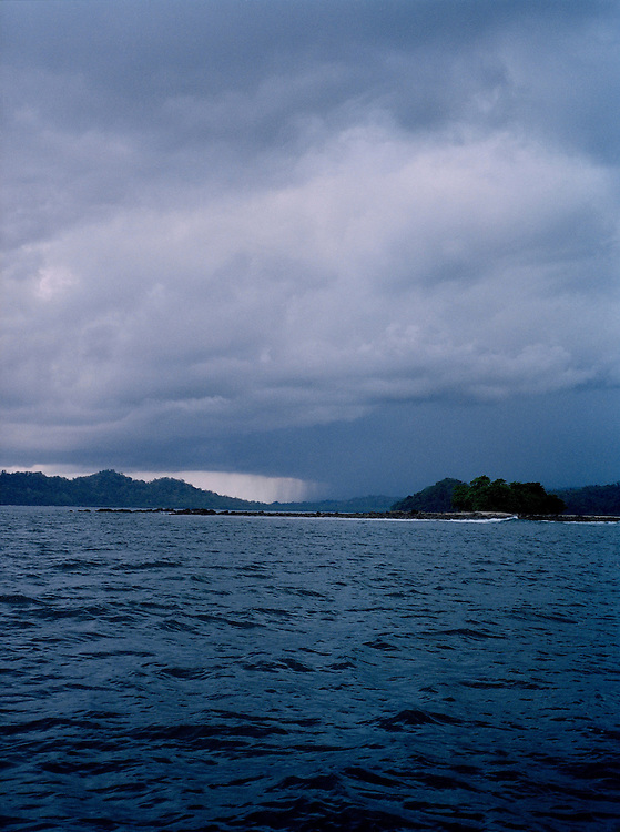 A storm approaching Ross & Smith Islands, North Andaman