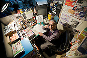 AAbiko Moto, better know as manga writer Fujiko Fujio, poses for a photo at his offices in Tokyo, Japan on FrIday 26 Feb.  2010.