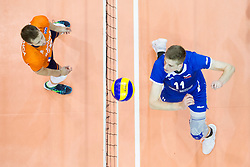 Saso Stalekar of Slovenia during volleyball match between national teams of Slovenia and Netherlands of 2018 CEV volleyball Godlen European League, on June 6, 2018 in Arena Bonifika, Koper, Slovenia. Photo by Urban Urbanc / Sportida