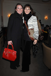 Left to right, sisters  ZAYLIE BUSSELL and DARCEY BUSSELL at a tea party to celebrate the launch of Buccellati's new London store held at 33 Albemarle Street, London on 13th February 2007.<br />