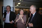 John Norton, Clare Short and Richard Shepherd, Launch of Martin Bell's ' The Truth That Sticks: New Labour's Breach Of Trust.' Foyles. London. 5 September 2007.  -DO NOT ARCHIVE-© Copyright Photograph by Dafydd Jones. 248 Clapham Rd. London SW9 0PZ. Tel 0207 820 0771. www.dafjones.com.