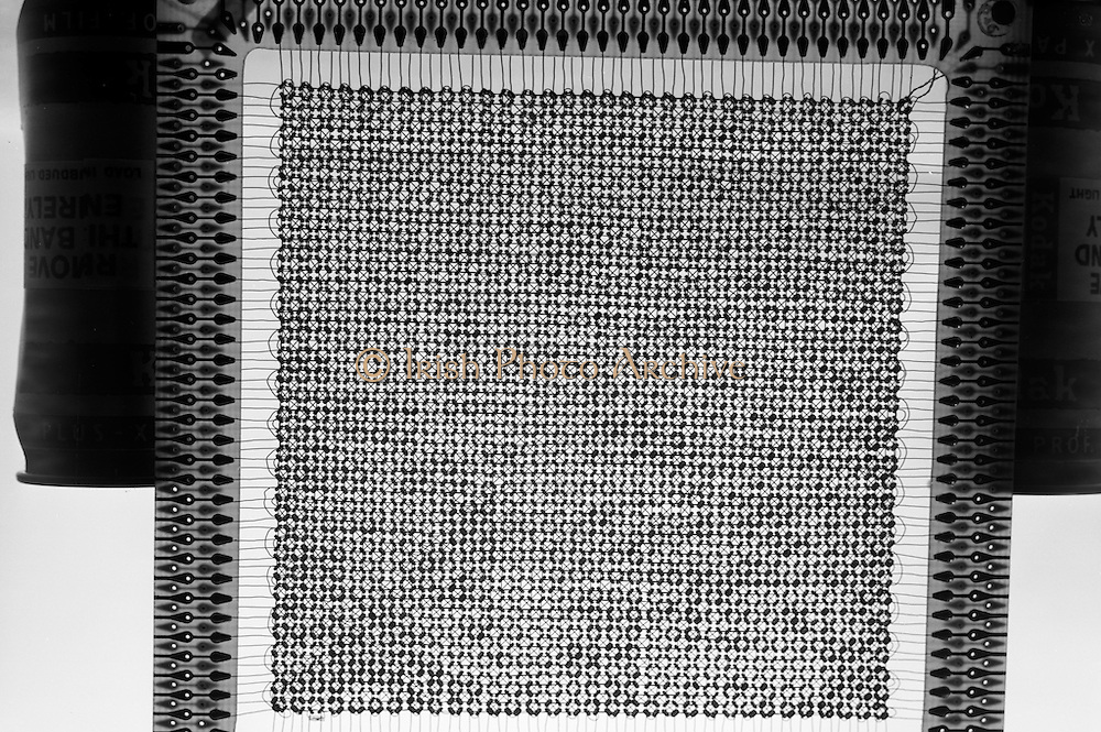 15/08/1967<br /> 08/15/1967<br /> 15 August 1967<br /> Computer components photographed for Core Memories Ltd., Greencastle Road, Coolock (Ronald Heath) at Lensmen offices.