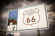 Historic US Route 66 sign, Seligman, Arizona USA