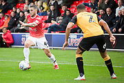Conway Of Salford City in action during the EFL Sky Bet League 2 match between Salford City and Cambridge United at Moor Lane, Salford, United Kingdom on 12 October 2019.
