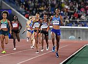 May 12, 2019; Yokohama, JPN; Joanna Atkins runs the second leg of the United Sates mixed 4 x 400m relay that won in 3:16.43 during the IAAF World Relays at International Stadium Yokohama.