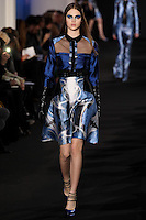 Anais Pouliot walks down runway for F2012 Prabal Gurung's collection in Mercedes Benz fashion week in New York on Feb 10, 2012 NYC