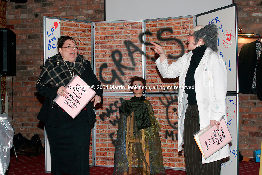 Pantomime at a Joint NUT, NASUWT & Unison Health and Safety Conference, Hoole Hall...© Martin Jenkinson, tel 0114 258 6808 mobile 07831 189363 email martin@pressphotos.co.uk. Copyright Designs & Patents Act 1988, moral rights asserted credit required. No part of this photo to be stored, reproduced, manipulated or transmitted to third parties by any means without prior written permission