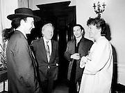 U2 meet the Taoiseach.18/05/1987