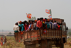 March 29, 2019 - Bhubaneswar, India - People attend the speach of Prime Minister of India Narendra Modi during his political party rally before the upcoming 2019 General Election, in Jeypore, India, on March 29, 2019. (Credit Image: © Str/NurPhoto via ZUMA Press)