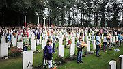 19/09/2009 Dutch children gather with WWII Veterans to remember the 65th Anniversary of Operation Market Garden, Oosterbeek War Cemetery,  Netherlands.