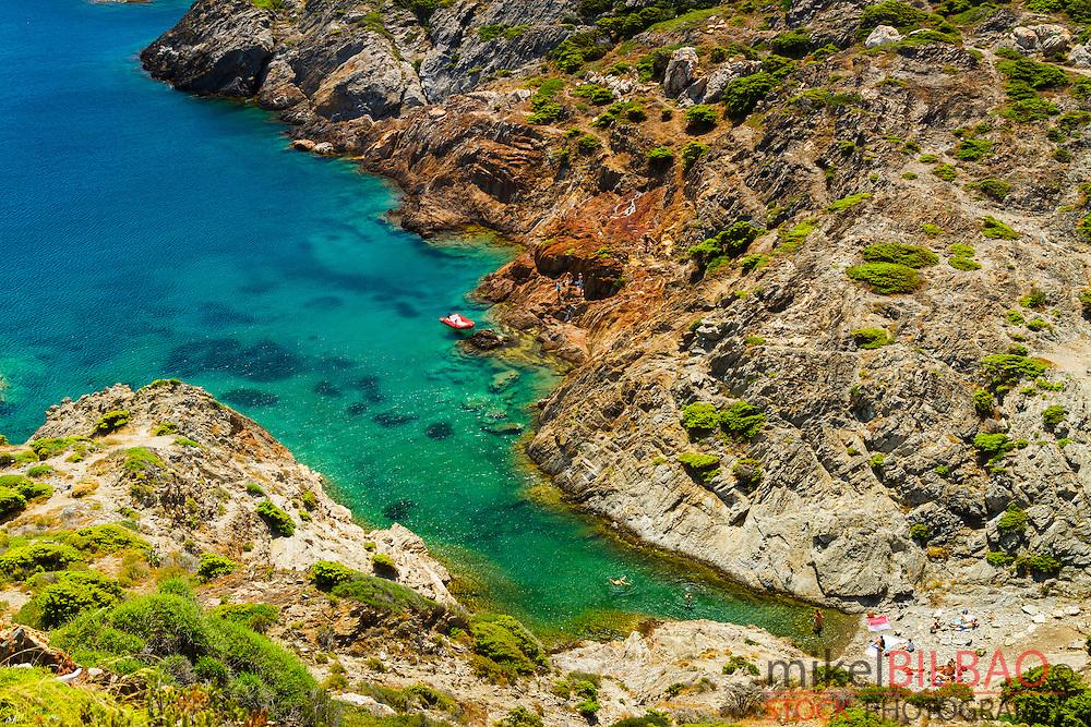 Cala Fredosa or Fredosa cove. Cap de Creus Natural Park. Costa Brava, Girona. Catalonia, Spain, Europe