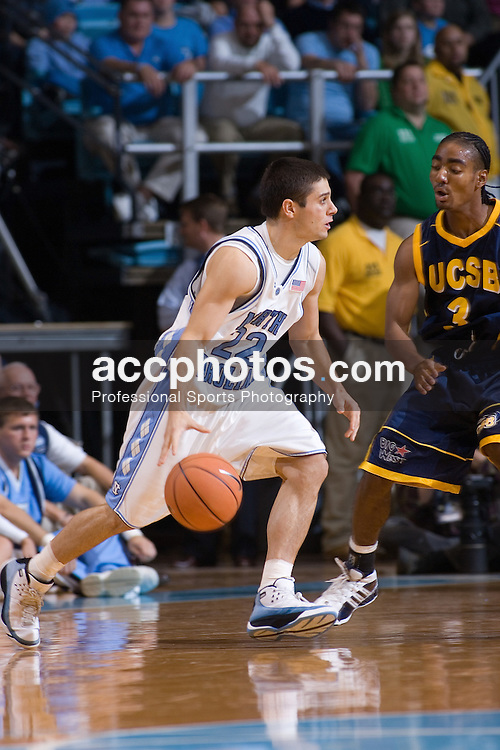25 November 2005:  Wes Miller (22) during a North Carolina Tarheels'  83-66 victory over the University of California - Santa Barbara in the Dean Smith Center in Chapel Hill, NC.