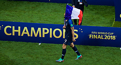 MOSCOW, RUSSIA - Sunday, July 15, 2018: France's Olivier Giroud celebrates after the FIFA World Cup Russia 2018 Final match between France and Croatia at the Luzhniki Stadium. France won 4-2. (Pic by David Rawcliffe/Propaganda)