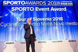 Bogdan Fink at Sports Awards & Brands ceremony during Sports marketing and sponsorship conference Sporto 2018, on November 22, 2017 in Hotel Slovenija, Congress centre, Portoroz / Portorose, Slovenia. Photo by Vid Ponikvar / Sportida