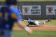 Oxford High's Dustin Williams makes a diving stop on an infield single vs. Lafayette in high school baseball action in Oxford, Miss. on Saturday, April 2, 2011. Oxford won 6-4.