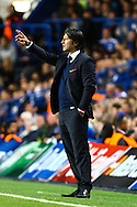 Picture by Daniel Chesterton/Focus Images Ltd +44 7966 018899<br /> 18/09/2013<br /> FC Basel manager Murat Yakin during the UEFA Champions League match at Stamford Bridge, London.