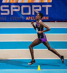 Mahadi Abdi Ali in action on 3000 meter during the Dutch Indoor Athletics Championship on February 23, 2020 in Omnisport De Voorwaarts, Apeldoorn