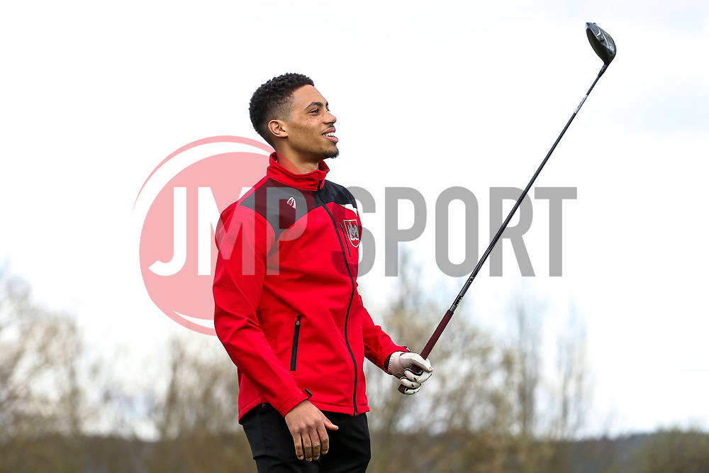 Zak Vyner in action on the Bristol City golf day in aid of Childrens Hospice South West and the Bristol City Community Trust - Rogan Thomson/JMP - 21/03/2017 - GOLF - Mendip Springs Golf Club - Bristol, England - Bristol City Charity Golf Day.