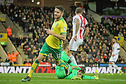 Norwich City midfielder Robbie Brady wheels away after scoring the third goal during the EFL Sky Bet Championship match between Norwich City and Brentford at Carrow Road, Norwich, England on 3 December 2016. Photo by Nigel Cole.