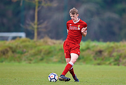 WOLVERHAMPTON, ENGLAND - Tuesday, December 19, 2017: Liverpool's Tom Clayton during an Under-18 FA Premier League match between Wolverhampton Wanderers and Liverpool FC at the Sir Jack Hayward Training Ground. (Pic by David Rawcliffe/Propaganda)
