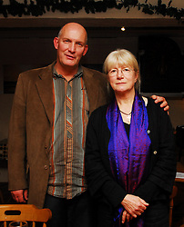Chris Agee and Geraldine Mitchell at the Poetry reading in the Creel which was part of the Westport Arts Festival 2009...Pic Conor McKeown