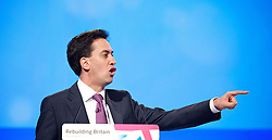 Rt Hon Ed Miliband MP, Leader of the Labour Party and the Opposition during the Labour Party Annual Conference in Manchester, Great Britain, September 30, 2012 Photo by Elliott Franks / i-Images.