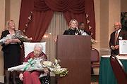 17934Ohio Women in Philanthropy present The Leona Hughes Inspiration Award to Leona Hughes at the Ohio University Inn on 11/02/06..Welcome.Frank P. Krasovec(BBA '65,MBA'66) Chair, The Ohio University Foundation Board of Trustees..Master of Ceremonies..Barbara Storm Thompson(AB'76).Chair,Women in Philanthropy Initiative..Roderick J. McDavis(BSED'70).President, Ohio University..Robert (BSCOM'57,DHON'62)and Jean(HON'88) Axline..Charles J. Ping(LHD'94).President Emeritus,Ohio University..Abby L. Jones(BS'07).Leona and Lewis Hughes-Manasseh Cutler Scholar..Presentation of the Leona Hughes Inspiration Award to Leona H. Hughes(BSEd'30,DH'01)