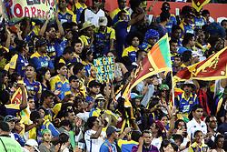 © Licensed to London News Pictures. 17/02/2012. Sydney Cricket Ground, Australia. Sri Lankan cricket fans cheering after the Sri Lankans defeated Australia during the One Day International cricket match between Australia Vs Sri Lanka. Photo credit : Asanka Brendon Ratnayake/LNP