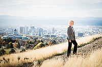 Salt Lake City Mayor Jackie Biskupski, Ensign Peak Nature Park, Salt Lake City, Utah.