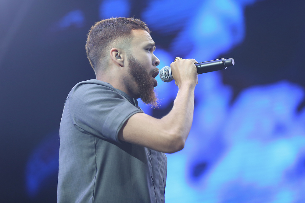 Jidenna performs at the 2017 BET Experience at The Staples Center on Friday June 23, 2017, in Los Angeles. (Photo by Willy Sanjuan/Invision/AP)