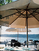 Outdoor dining on the Bosphorus at Sumahan hotel