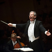 November 17, 2012 - New York, NY : Artistic director and conductor Sir John Eliot Gardiner leads the Orchestre Révolutionnaire et Romantique and The Monteverdi Choir as they perform Beethoven's 'Missa solemnis' at Carnegie Hall's  Stern auditorium / Perelman Stage in Manhattan on Saturday night. CREDIT: Karsten Moran for The New York Times