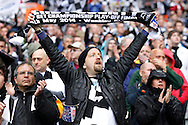 Fans of Derby County during the Sky Bet Championship Play Off final at Wembley Stadium, London<br /> Picture by Andrew Tobin/Focus Images Ltd +44 7710 761829<br /> 24/05/2014