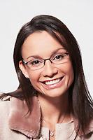 Woman wearing glasses portrait head and shoulders