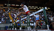 05/23/2009 - Lincoln's Tiara Pittman (626) clears the final barrier on her way to winning the 6A Girl's 300 Meter Hurdles. The 2009 OSAA/U.S. Bank/Les Schwab Tires 6A-5A-4A Track and Field State Championships were run at Hayward Field in Eugene, Oregon.....KEYWORDS:  City, Portland, sports, Oregon, high school, OSAA, boys, girls, PIL, run, University, team