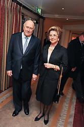 Former South African President F W de KLERK and his wife ELITA GEORGIADES at the 4th Fortune Forum Summit held at The Dorchester Hotel, Park Lane, London on 4th December 2012.