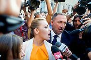 Roma 25 Giugno 2013<br /> Manifestazione anti-giudici organizzato da Giuliano Ferrara, direttore de Il Foglio a piazza Farnese contro la sentenza che ha condannato, Silvio Berlusconi, a sette anni per il Rubygate, accusato di abuso di potere e prostituzione minorile. Francesca Pascale , fidanzata di Silvio Berlusconi<br /> Manifestation  anti judges organized by Giuliano Ferrara editor of Il Foglio to piazza Farnese against the judgment which condemned, Silvio Berlusconi  to seven years for Rubygate, charged with abuse of authority and under-age prostitution.