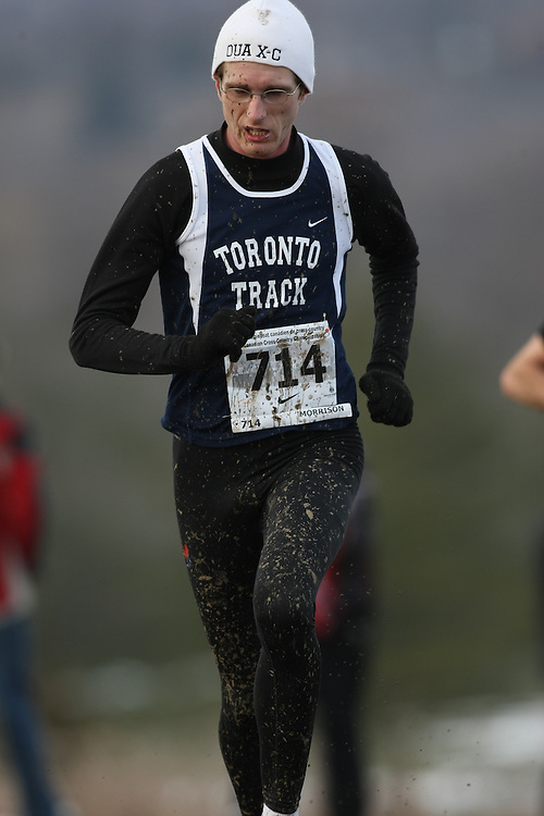 Guelph, Ontario ---29/11/08---  SPENCER MORRISON competes in the senior men's race at the 2008 AGSI Canadian Cross Country Championships in Guelph, Ontario, November 29, 2008..Sean Burges Mundo Sport Images
