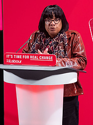© Licensed to London News Pictures. 26/11/2019. London, UK. Diane Abbott takes the stand at the Bernie Grant Arts Centre in Tottenham to launch Labour's new Race and Faith manifesto.<br /> Labour Leader, Jeremy Corbyn alongside Shadow Home Secretary, Diane Abbott and Shadow Equalities Women's Secretary, Dawn Butler launch Labour's new Race and Faith manifesto which is the culmination of various consultations held across the country. Photo credit: Peter Manning/LNP