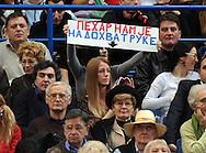 TENIS, BEOGRAD, 04. Dec. 2010. -  Dubl mec izmedju srpskog para Viktor Troicki/ Nenad Zimonjic i francuskog para Mikela Lodre i Arnoa Klemona. Finale Davis cup-a izmedju selekcija Srbije i Francuske koje se igra od 3-5 decembra u beogradskoj Areni.  Davis cup final Serbia vs France. Foto: Nenad Negovanovic