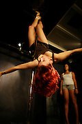 "Paris, France. October 17th 2007.A Pole Dance class at the ""Pole Dance Paris"" School.. .Pole Dance Paris.Studio 77 .77 Rue de Montreuil.75011 Paris."