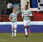 Celtic&rsquo;s Leigh Griffiths celebrates his goal  - Dundee v Celtic, William Hill Scottish Cup fifth round at Dens Park <br /> <br /> <br />  - &copy; David Young - www.davidyoungphoto.co.uk - email: davidyoungphoto@gmail.com